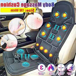 8 Mode Massage Seat Cushion Heated Back Neck Massager Body C