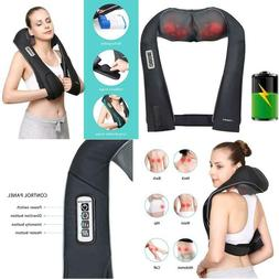 Naipo Back Neck And Shoulder Massager Shiatsu With Heat And
