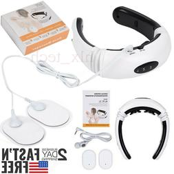 Back Neck EMS tens Massager Electric Pulse Far Infrared Pain