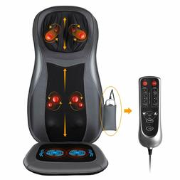 Back Neck Massage Seat Chair Cushion with Heat 3D Finger Pre