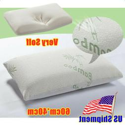 Bamboo Memory Foam Pillow for Back & Neck Healthy Breathable
