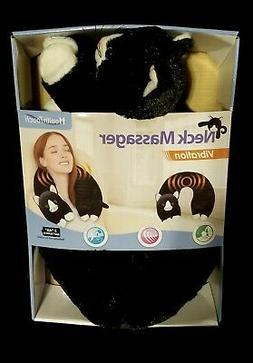 black and white cat neck wrap massager