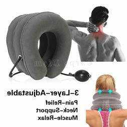 Cervical Neck Traction Device Collar Brace Support Pain Reli