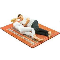 Queen Size Far Infrared Heating Mat Negative Ion Therapy Hea