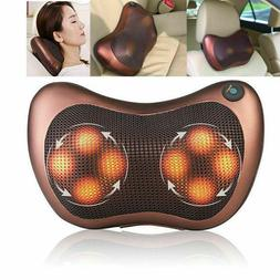 Electric Massage Pillow Lumbar Neck Back Shiatsu Massager Cu