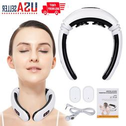 Electric Massager Pulse Back Neck Safe Care Far Infrared Pai
