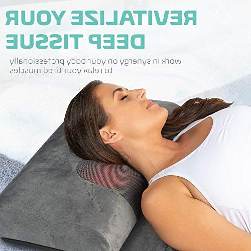 Full with Neck Vibrating Bed Pad Relieves Tension, in Waist, and