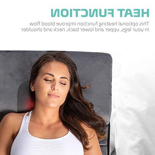 Full Body with Neck Massager Vibrating Pad Cushion Relief, Relieves in Waist, and