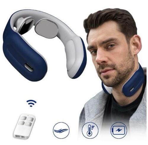portable neck massager with heat cordless neck