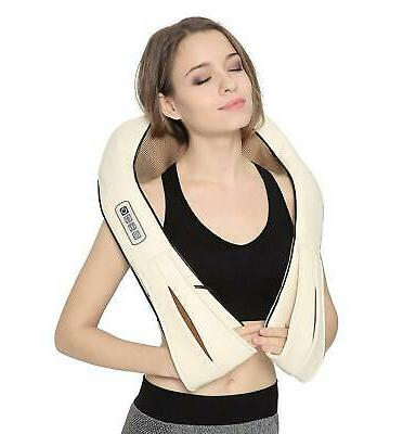 shiatsu neck and back massager with soothing