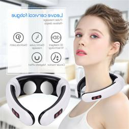 Neck Massage Electric Massager Pulse Back Cervical Vertebra