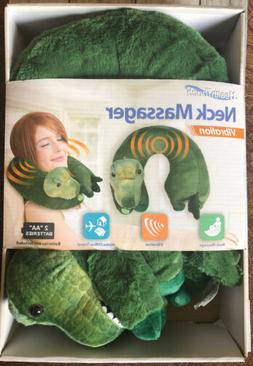 Health Touch Neck Massager Vibrating Plush Dinosaur T Rex So