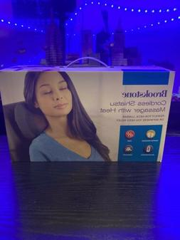 New In Box Brookstone Cordless Shiatsu Neck & Back Massager