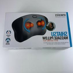 NIB HoMedics Shiatsu Massage Pillow with Heat Neck Head Rela