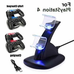 For PS4 PlayStation4 Controller Dual LED Charger Dock Statio