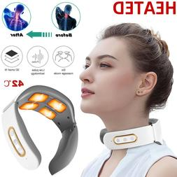 Rechargeable Electric Cervical Neck Massager Relax Heated Bo
