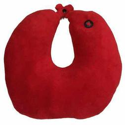 Spa Massage Red Neck Massager With Micro Plush Fabric-GREAT
