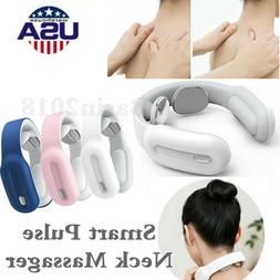 Smart RC Pulse Neck Massager Heating Therapy Body Shoulder V