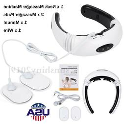 Tens Unit Neck Massager Electrical Stimulation Muscle Therap